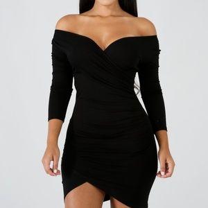 Hot Miami Styles Ruched Mini Dress